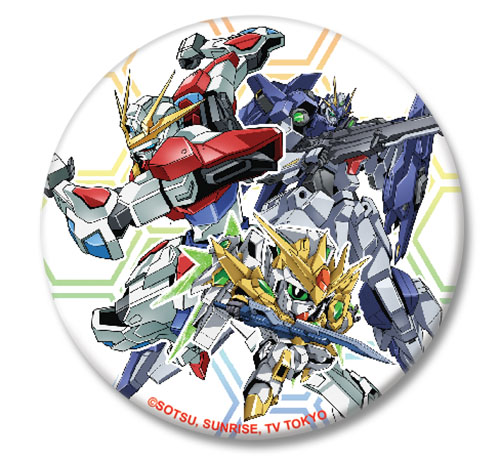Gundam Build Fighters Try - Group Gundam Button 1.25'' officially licensed Gundam Build Fighters Try Buttons product at B.A. Toys.