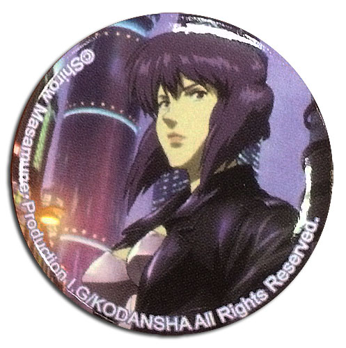 Ghost In The Shell - Motoko Cityspace Button officially licensed Ghost In The Shell Buttons product at B.A. Toys.