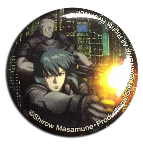 Ghost In The Shell - Motoko & Batou Button officially licensed Ghost In The Shell Buttons product at B.A. Toys.