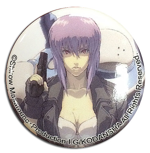 Ghost In The Shell - Motoko With Tachikoma Button 1.25'' officially licensed Ghost In The Shell Buttons product at B.A. Toys.