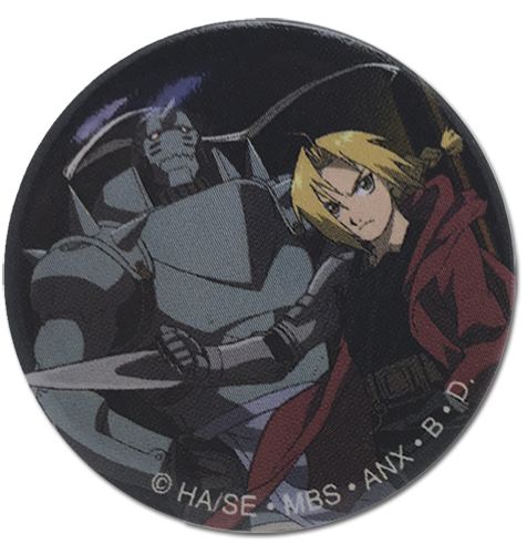 Fullmetal Alchemist - Dark Background Button officially licensed Fullmetal Alchemist Buttons product at B.A. Toys.