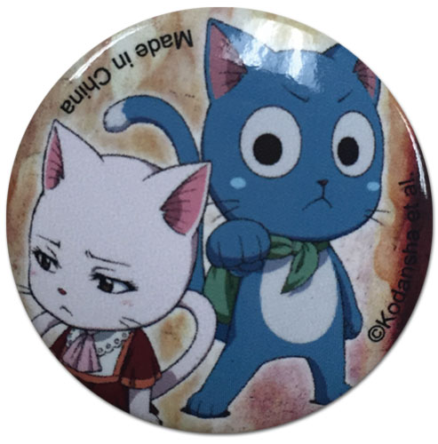 Fairy Tail - Carla And Happy Button, an officially licensed Fairy Tail product at B.A. Toys.