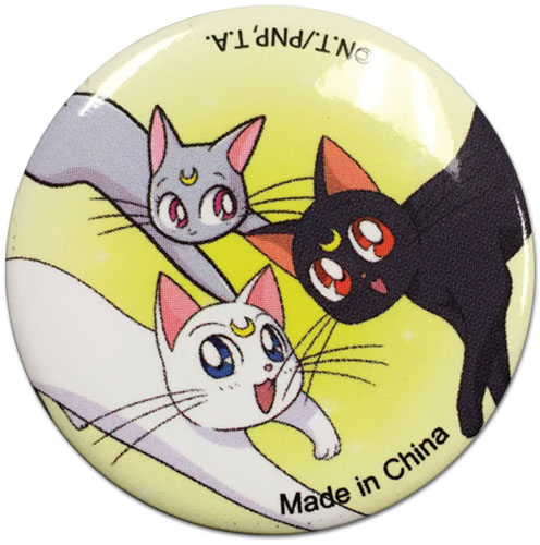 Sailor Moon - Cats Button officially licensed Sailor Moon Buttons product at B.A. Toys.