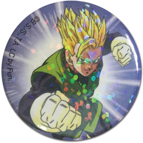 Dragon Ball Z - Ss Gohan Ultimate Glitter Button 1.25'', an officially licensed product in our Dragon Ball Z Buttons department.