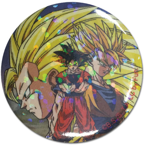 Dragon Ball Z - Goku Glitter Button officially licensed Dragon Ball Z Buttons product at B.A. Toys.