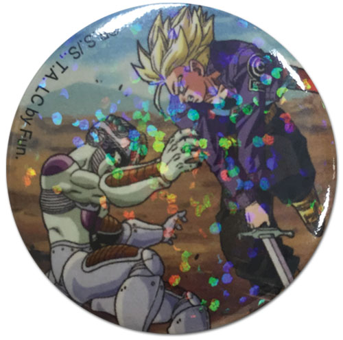 Dragon Ball Z - Frieza & Trunks Glitter Button 1.25''