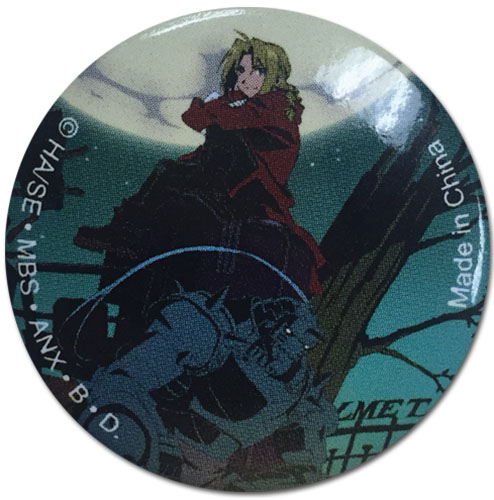 Fullmetal Alchemist - Ed & Al Camp Button 1.25'' officially licensed Fullmetal Alchemist Buttons product at B.A. Toys.
