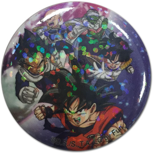 Dragon Ball Z - Group Glitter Button 1.25''