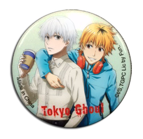 Tokyo Ghoul - Kaneki & Hideyoshi Button 1.25, an officially licensed Tokyo Ghoul product at B.A. Toys.