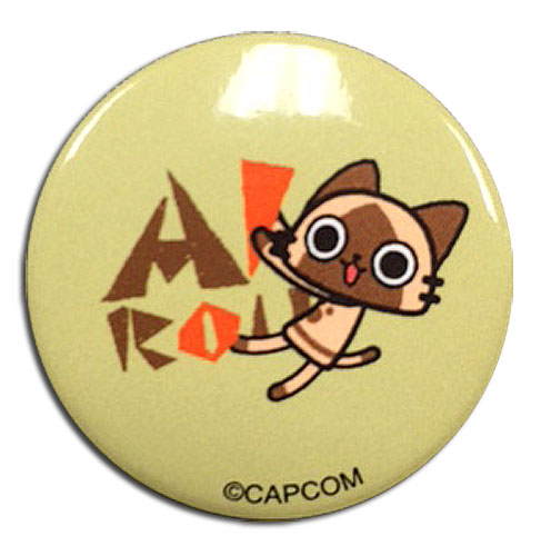Monster Hunter - Airou Button 1.25'', an officially licensed Monster Hunter product at B.A. Toys.
