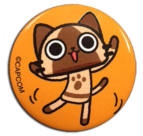 Monster Hunter - Airou Dance Button 1.25'' officially licensed Monster Hunter Buttons product at B.A. Toys.