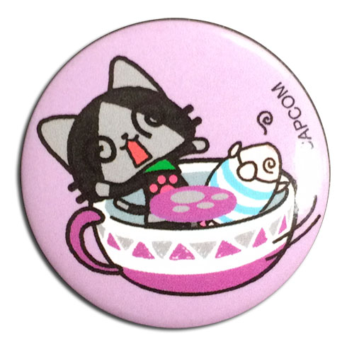 Monster Hunter - Merarou & Poogie Teacup Button 1.25'', an officially licensed Monster Hunter product at B.A. Toys.