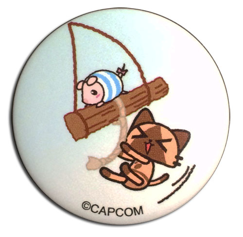 Monster Hunter - Airou & Poogie On A Swing Button 1.25''