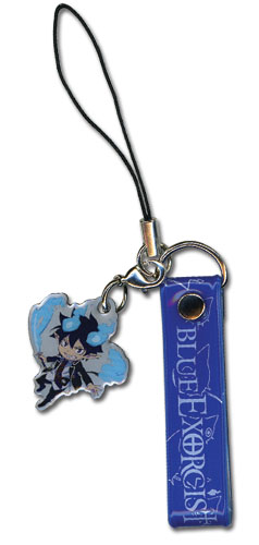 Blue Exorcist Rin Cellphone Strap, an officially licensed Blue Exorcist product at B.A. Toys.
