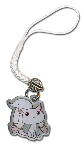 Madoka Magica Kyubey Cellphone Charm officially licensed Madoka Magica Costumes & Accessories product at B.A. Toys.