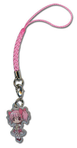 Madoka Magica Madoka Cellphone Charm, an officially licensed Madoka Magica product at B.A. Toys.