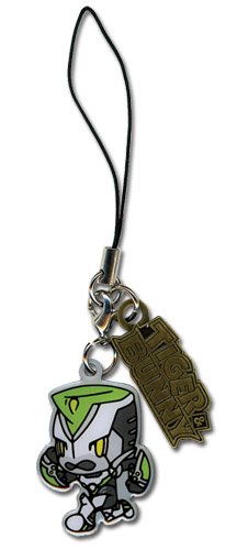 Tiger & Bunny Wild Tiger Metal Cellphonce Charm officially licensed product at B.A. Toys.