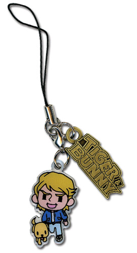 Tiger & Bunny Keith Metal Cellphone Charm officially licensed product at B.A. Toys.