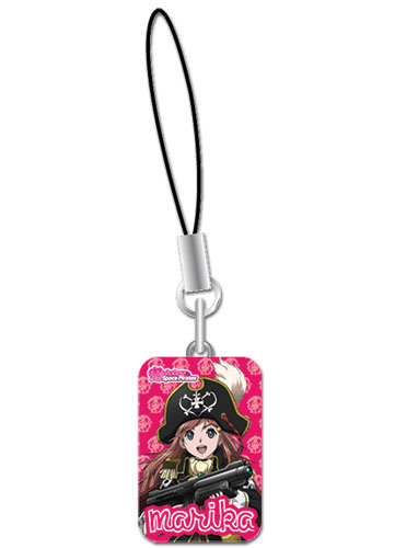 Bodacious Space Pirates Marika Metal Cellphone Charm, an officially licensed Bodacious Space Pirates product at B.A. Toys.