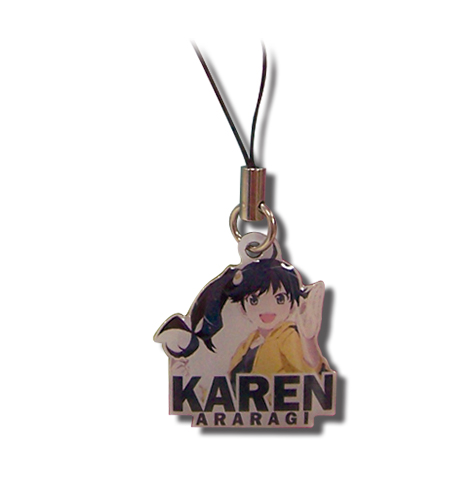 Nisemonogatari - Karen Metal Cell Phone Charm, an officially licensed product in our Nisemongatari Costumes & Accessories department.