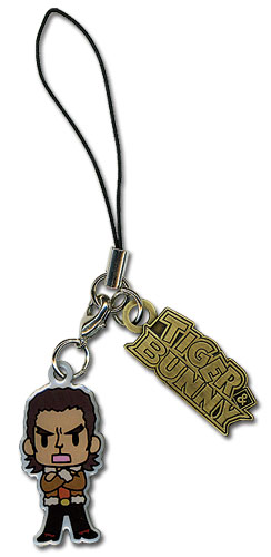 Tiger & Bunny Antonio Metal Cellphone Charm officially licensed product at B.A. Toys.