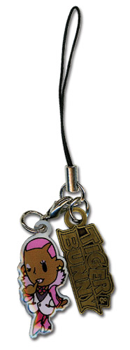 Tiger & Bunny Nathan Sd Metal Cellphone Charm officially licensed product at B.A. Toys.