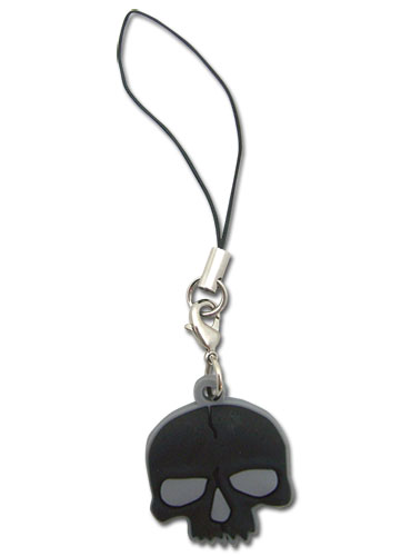 Black Rock Shooter Skull Pvc Cellphone Charm, an officially licensed Black Rock Shooter Cell Phone Accessory