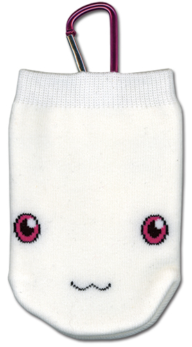 Madoka Magica Kyubey Knitted Cellphone Bag