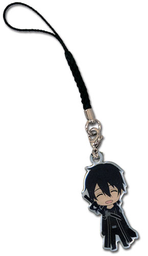 Sword Art Online Kirito Metal Cellphone Charm officially licensed product at B.A. Toys.