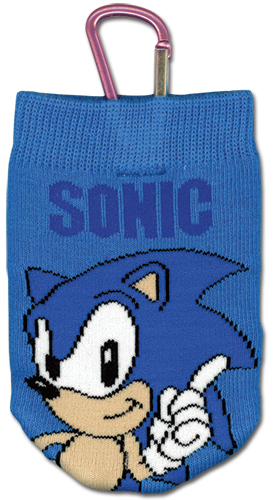 Sonic Classic Sonic Knitted Cellphone Bag, an officially licensed product in our Sonic Costumes & Accessories department.