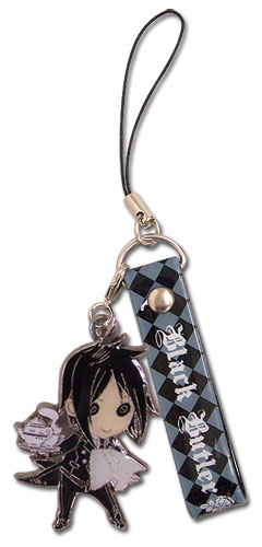 Black Butler Sebastain Sd Cellphone Charm, an officially licensed product in our Black Butler Costumes & Accessories department.