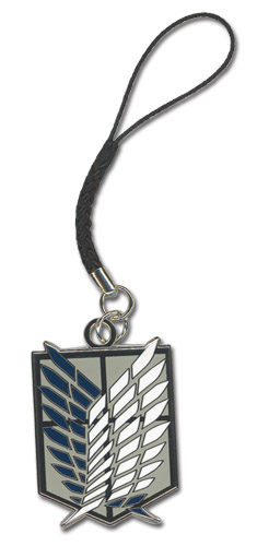 Attack On Titan - Scouting Legion Emblem Cell Phone Charm officially licensed product at B.A. Toys.