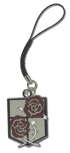 Attack On Titan - Stationary Guard Emblem Cell Phone Charm officially licensed product at B.A. Toys.