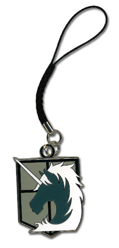 Attack On Titan - Military Police Emblem Cell Phone Charm, an officially licensed product in our Attack On Titan Costumes & Accessories department.