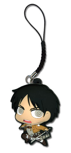 Attack On Titan - Sd Eren Pvc Cell Phone Charm, an officially licensed Attack on Titan Cell Phone Accessory