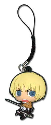 Attack On Titan - Sd Armin Pvc Cell Phone Charm, an officially licensed product in our Attack On Titan Costumes & Accessories department.