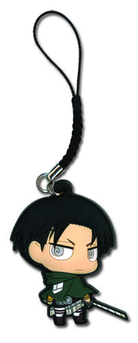 Attack On Titan - Sd Levi Pvc Cell Phone Charm officially licensed product at B.A. Toys.