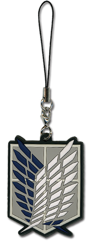 Attack On Titan - Servey Corp Pvc Cell Charm, an officially licensed Attack on Titan Cell Phone Accessory