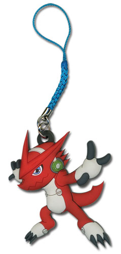 Digimon - Shoutmon Pvc Cellphone Charm, an officially licensed Digimon Cell Phone Accessory