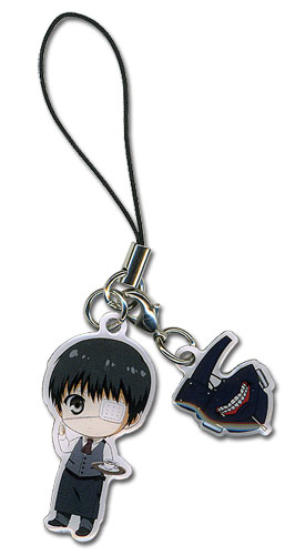 Tokyo Ghoul - Kaneki * Mask Cell Phone Charm officially licensed Tokyo Ghoul Costumes & Accessories product at B.A. Toys.