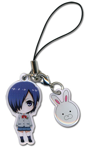 Tokyo Ghoul - Touka & Mask Cell Phone Charm, an officially licensed product in our Tokyo Ghoul Costumes & Accessories department.