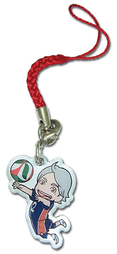 Haikyu!! - Sugawara Metal Cell Phone Charm, an officially licensed product in our Haikyu!! Costumes & Accessories department.