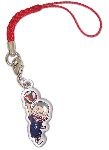 Haikyu!! - Tanaka Metal Cell Phone Charm, an officially licensed product in our Haikyu!! Costumes & Accessories department.