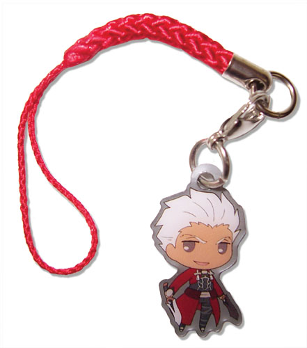 Fate/stay Night - Archer Sd Cellphone Charm officially licensed Fate/Zero Costumes & Accessories product at B.A. Toys.