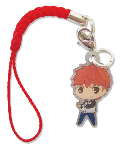 Fate/stay Night - Shirou Sd Metal Cellphone Charm officially licensed Fate/Zero Costumes & Accessories product at B.A. Toys.