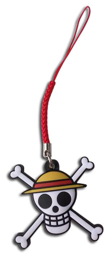 One Piece - Straw Hat Pirates Jolly Roger Pvc Phone Charm, an officially licensed product in our One Piece Costumes & Accessories department.