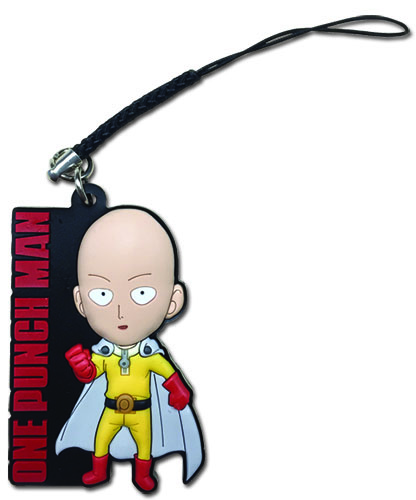 One Punch Man - Sd Saitama Pvc Phone Charm, an officially licensed product in our One-Punch Man Costumes & Accessories department.