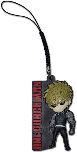 One Punch Man - Sd Genos Pvc Cell Phone Charm, an officially licensed product in our One-Punch Man Costumes & Accessories department.