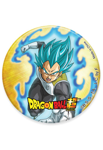 Dragon Ball Super - Ssgss Vegeta 03 Button 1.25'', an officially licensed product in our Dragon Ball Super Buttons department.
