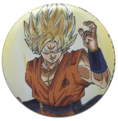Dragon Ball Super - Goku With Fighting Spirit Button 1.25'', an officially licensed product in our Dragon Ball Super Buttons department.